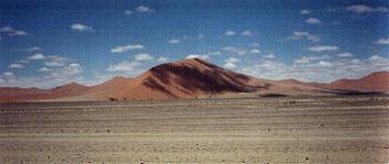 Red sand dues in Sossusvlei area