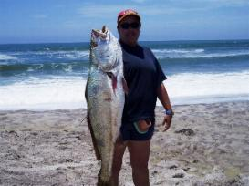 Fishing in Henties Bay, Namibia