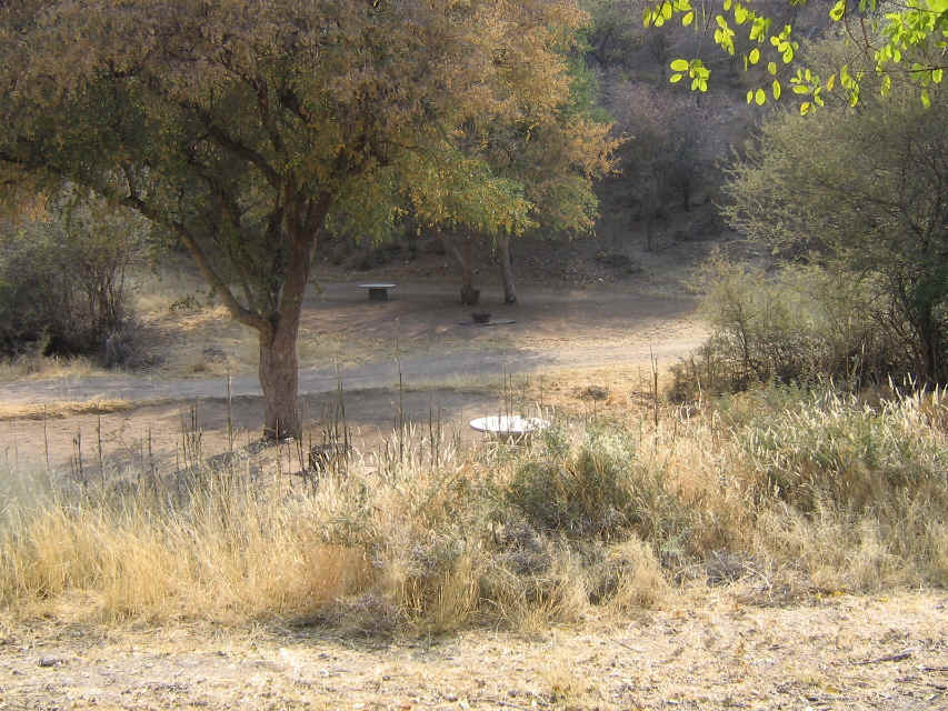 Oppiklippe Outjo, Namibia: camping