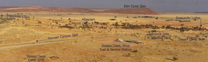 Sossus Oasis Camp Site Namibia: location