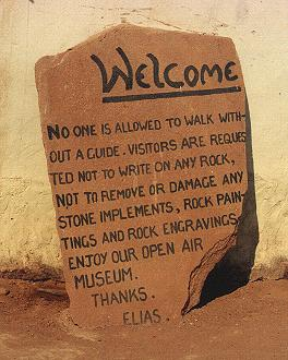 Twyfelfontein - sign at parking