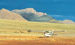 Wolwedans Dunes Lodge and NamibRand Reserve plane