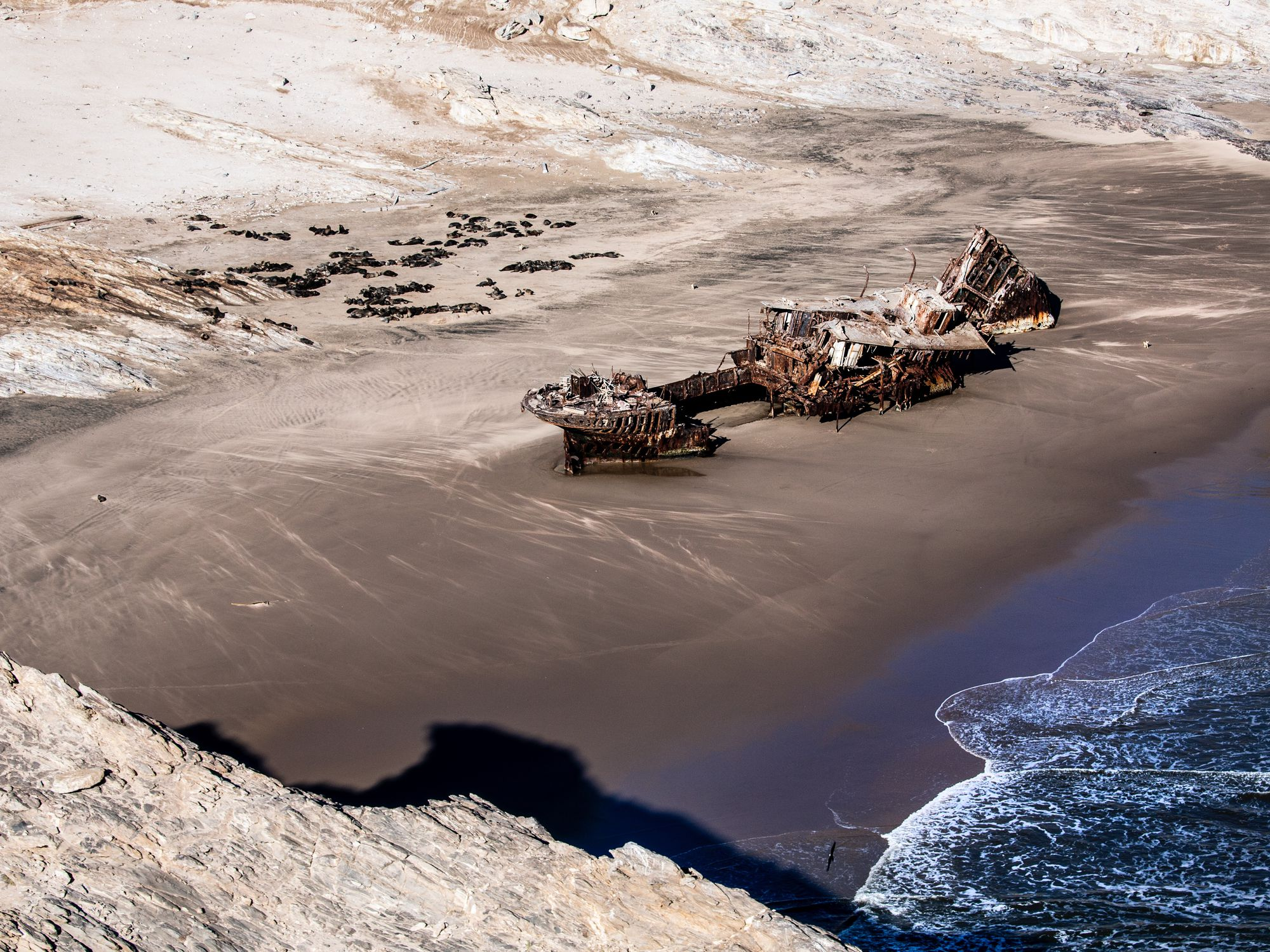 Otavi shipwreck, Spencer Bay, Sperrgebiet, Namibia
