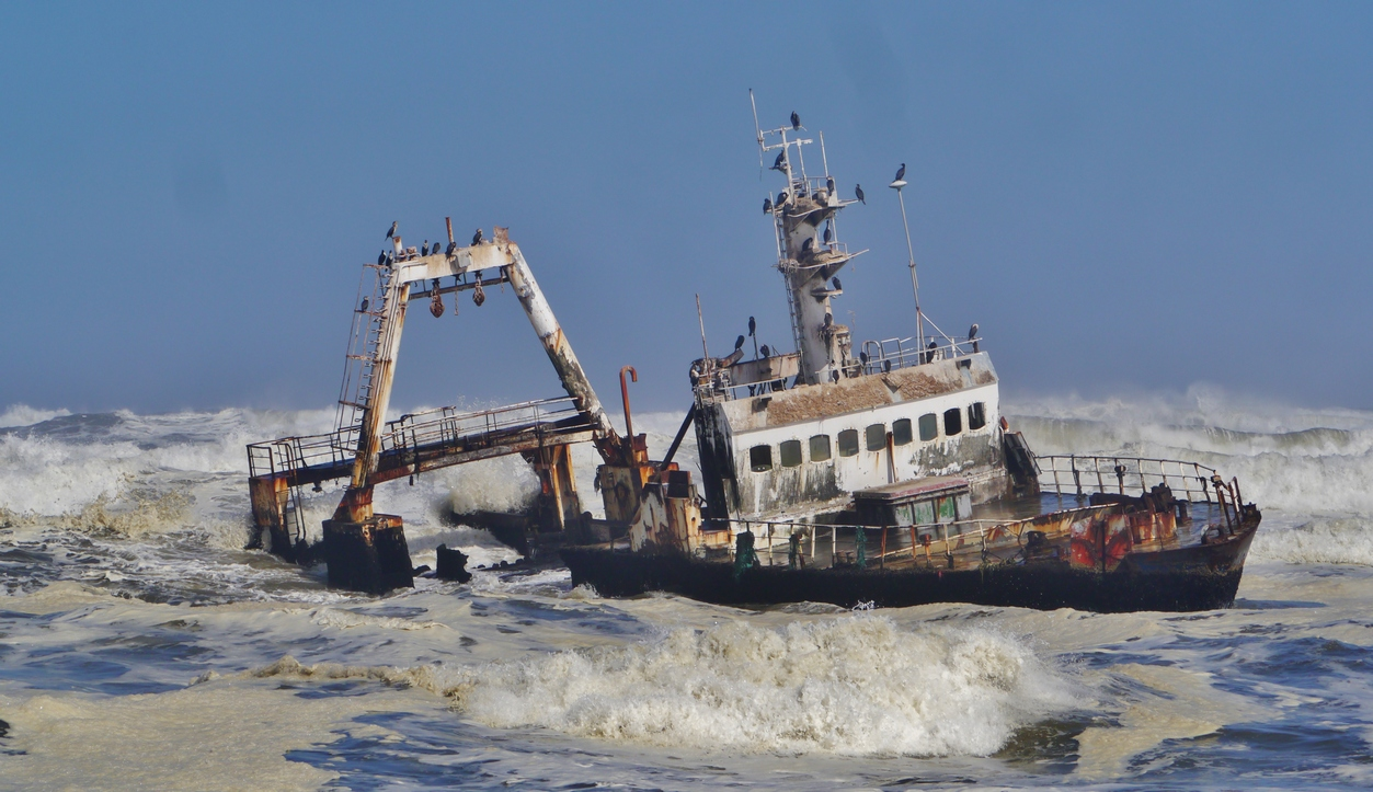 Zeila wreck, south of Henties Bay, Namibia