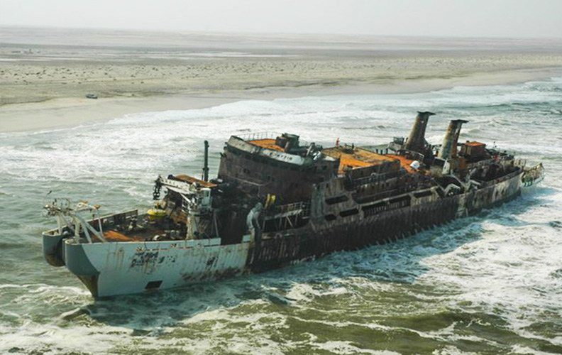 Chamarel wreck, Atlantic West Coast, Namibia