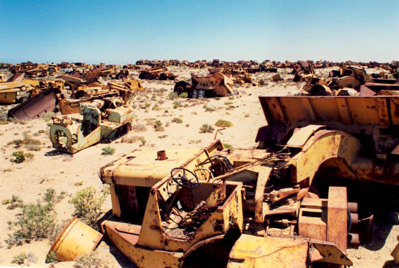 Diamond mine obsolete machinery graveyard, Oranjemund, Sperrgebiet, Namibia